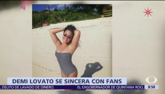 Demi Lovato se sincera en redes sociales