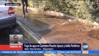 Se desperdician miles de litros de agua por mega fuga en Periférico