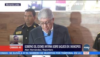 113 personas detenidas por saqueos en el Estado de México