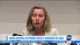 Unión Europea, el primer socio comercial de Cuba