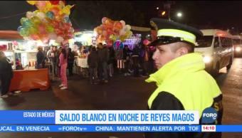 Saldo blanco en noche de Reyes Magos en el Estado de México