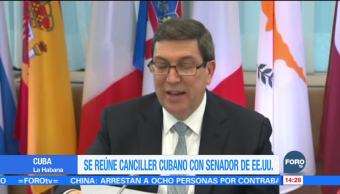 Se reúne canciller cubano con senador de Estados Unidos