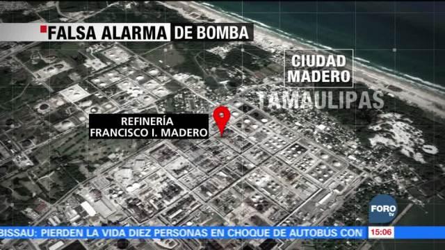 Falsa alarma en refinería en Ciudad Madero, Tamaulipas