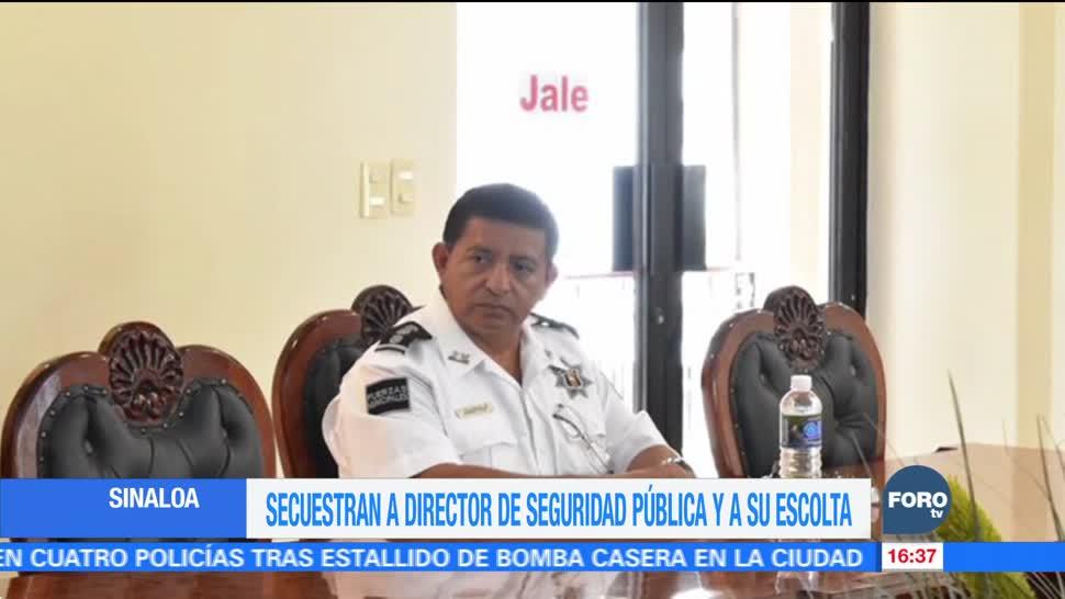 Secuestran al director de la Policía municipal en Sinaloa