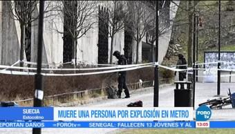 Explota artefacto junto a estación de metro en Estocolmo; un muerto
