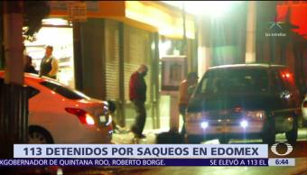 Suman 113 detenidos por actos vandálicos en el Edomex