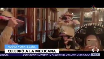 Eric Trump festeja su cumpleaños con sombrero de mariachi