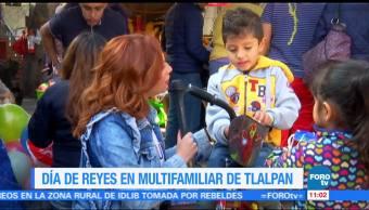 Día de Reyes en el Multifamiliar de Tlalpan