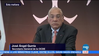La economía mexicana mantiene tendencia de crecimiento: OCDE