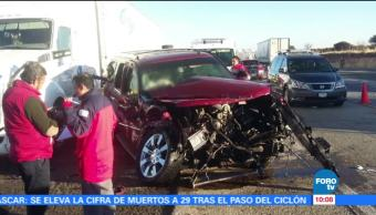 Se registra choque múltiple en la autopista Osiris-Aguascalientes