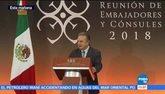 Ildefonso Guajardo, secretario de Economía, participa en la reunión de embajadores y cónsules 2018