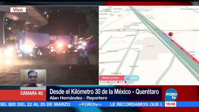 Vuelca Tráiler México Querétaro Transportaba Esponjas