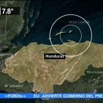 Sismo de magnitud 7.8 sacude Honduras