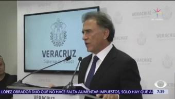 Yunes niega presión del Gobierno federal por caso Javier Duarte