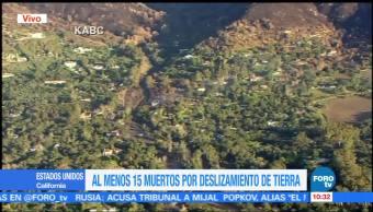 15 muertos por deslizamientos de tierra en California