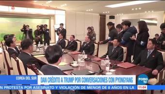 Seúl da crédito a Trump por ayudar en conversaciones con Norcorea