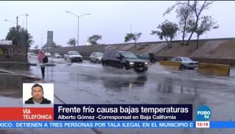 Frente frío provocan bajas temperaturas en Baja california