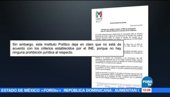 PRI no impugnará ante el TEPJF por el nombre de la coalición