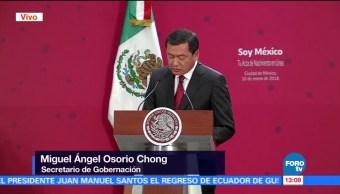 Osorio Chong confirma que renunciará al gabinete de Peña Nieto