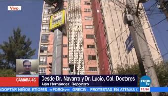 El sábado demolerán edificio afectado por sismo en la colonia Doctores, CDMX