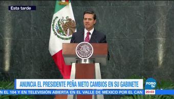 EPN anuncia cambios en su gabinete