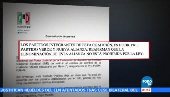 PRI no impugnará ante el TEPJF decisión del INE