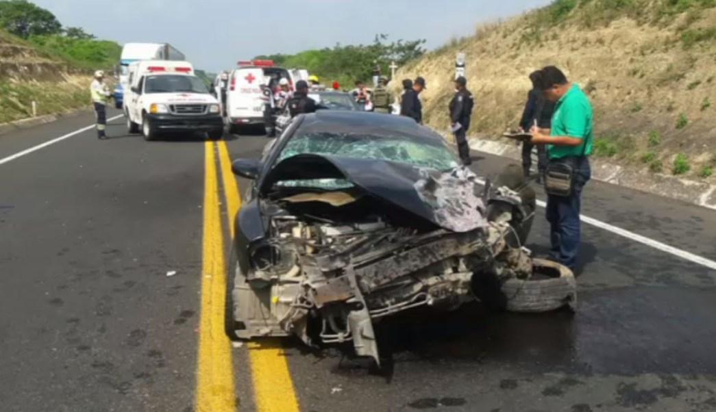 Accidente automovilístico deja un muerto y cinco lesionados
