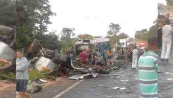Accidente múltiple en Brasil deja al menos 13 muertos y 39 heridos