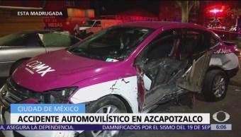 Accidente en Azcapotzalco deja un muerto y dos lesionados