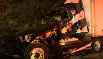 cinco lesionados accidente autopista mexico toluca