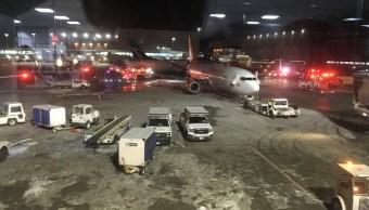 colisionan dos aviones aeropuerto toronto provenia cancun