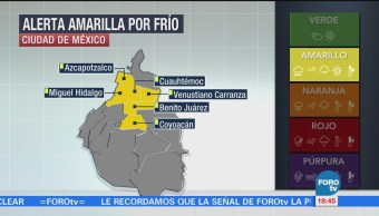 Alerta por temperaturas bajo cero en zonas de la CDMX