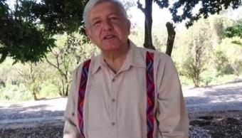 López Obrador habla del plan de gobierno de Morena