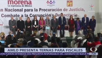 AMLO presenta ternas para elegir al fiscal general, anticorrupción y electoral