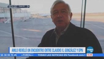 AMLO revela encuentro entre Claudio X. González y EPN