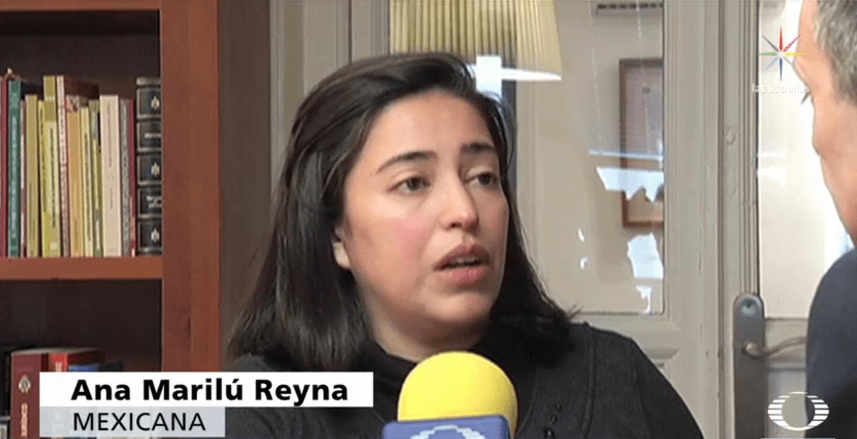 Ana Marilú Reyna en entrevista con Noticieros Televisa.