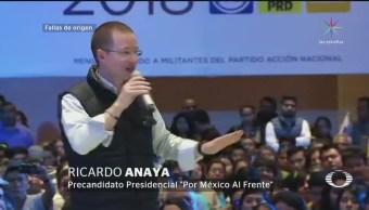 Anaya critica propuesta anticorrupción de Meade