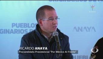 Anaya llama al Gobierno federal a mantenerse al margen en elecciones