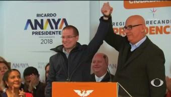 Anaya se registra como precandidato de MC a la Presidencia