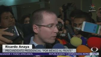 Anaya pide fiscalizar el flujo de recursos públicos en campañas electorales