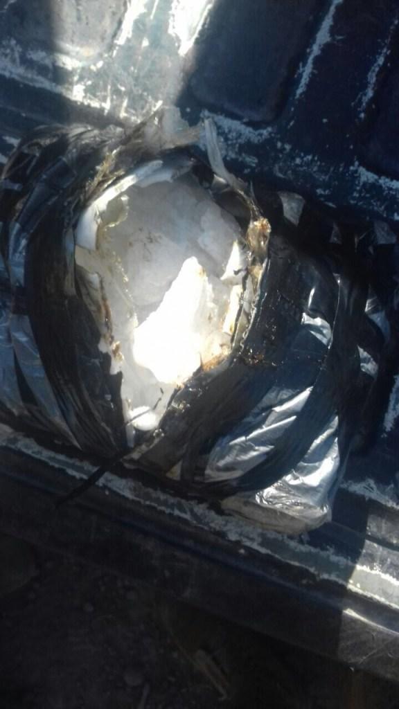 Aseguran más de 11 kilos de droga cristal en Guasave