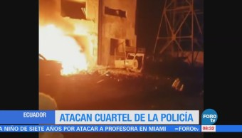 Atacan cuartel de policía en Ecuador