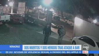 Ataque en bar deja dos muertos y dos heridos en Veracruz
