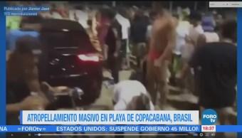 Atropellamiento masivo en paseo de Copacabana