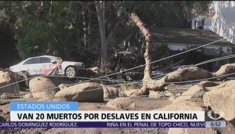 Aumenta el número de muertos por deslaves en California