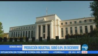 Aumenta producción industrial de Estados Unidos