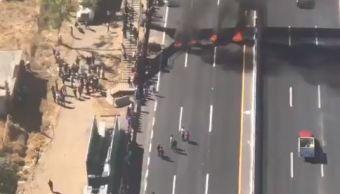 pobladores bloquean llantas autopista puebla protesta