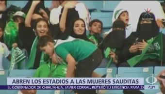 Autorizan a mujeres a ir a partidos de futbol en Arabia Saudita