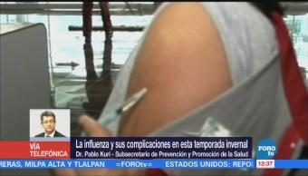 Avanza 80% aplicación de 32 millones de vacunas contra la influenza