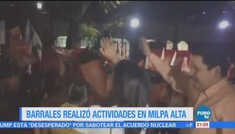 Barrales realiza actividades en Milpa Alta